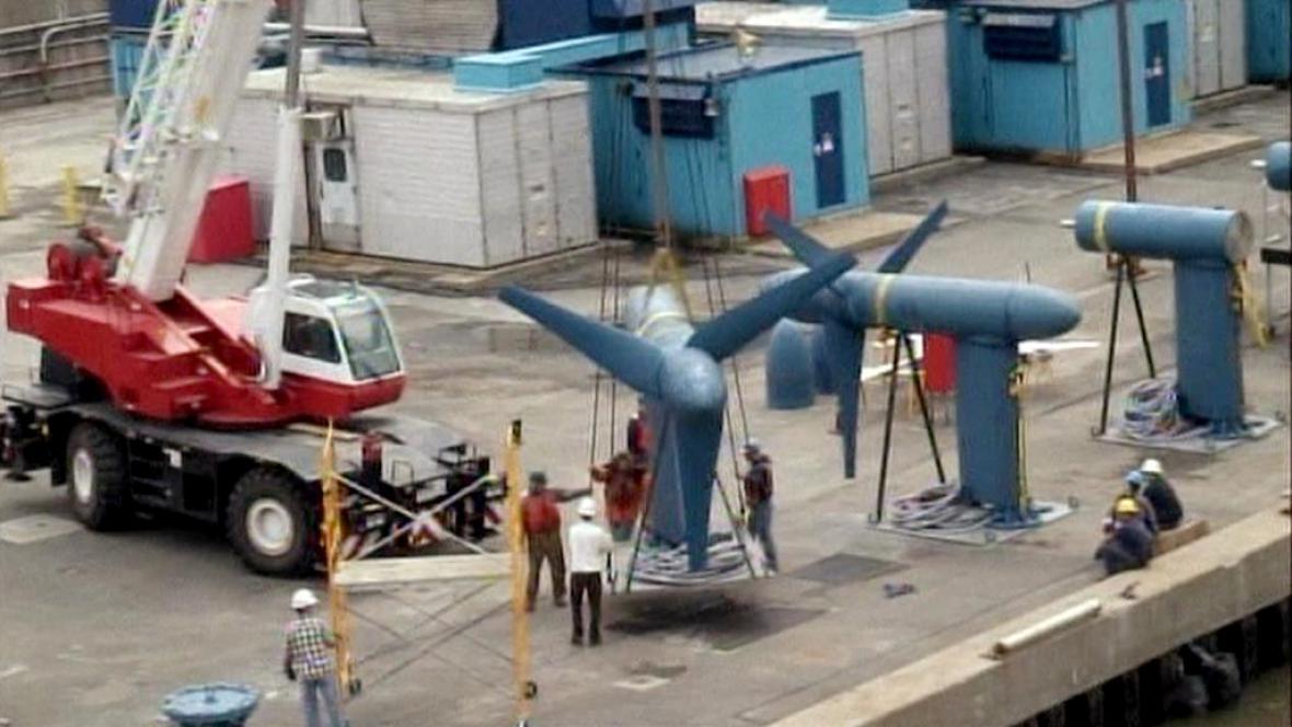 Turbíny pro přílivové elektrárny