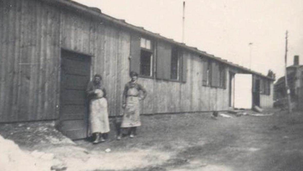Jeden z pracovních táborů na Trutnovsku