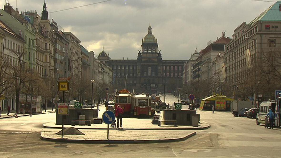 Václavské náměstí bez aut