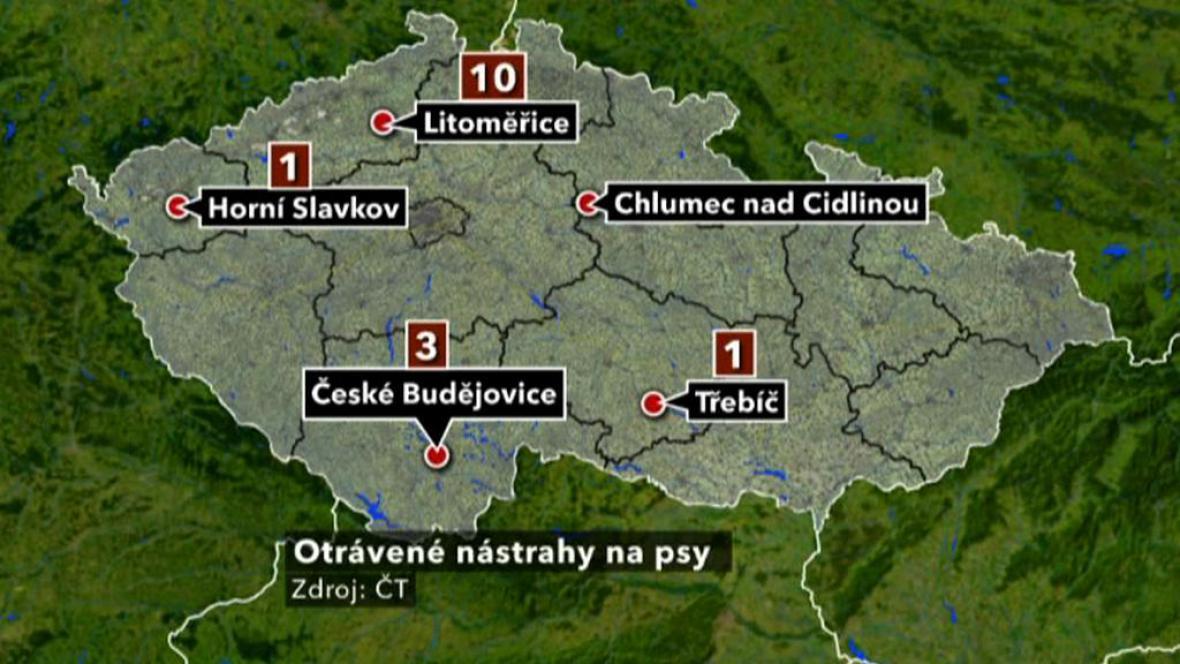 Výskyt otrávených nástrah v Česku