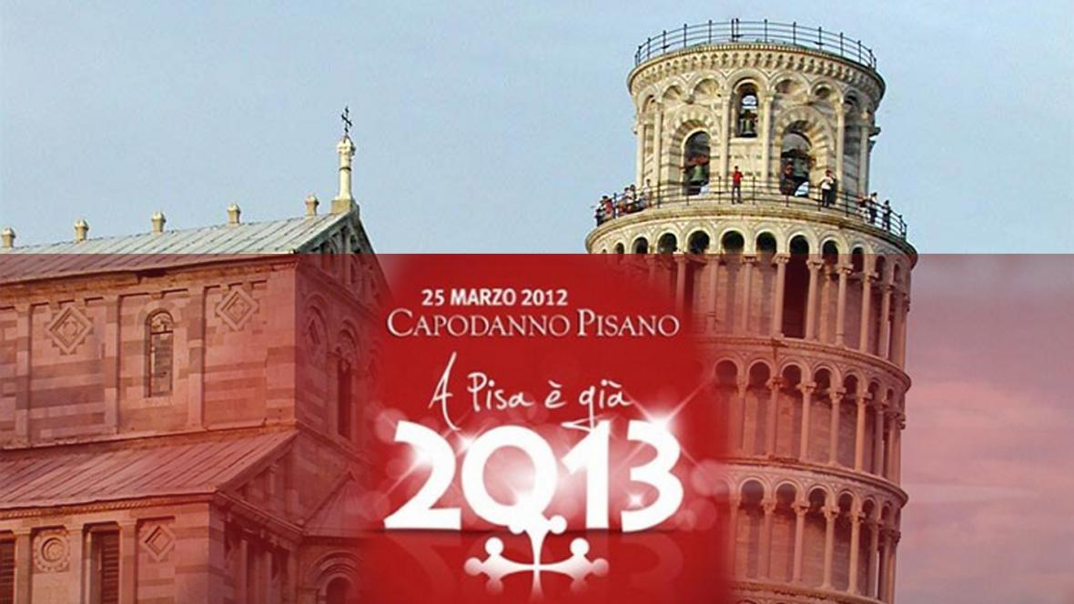 Pisa slaví Nový rok 2013