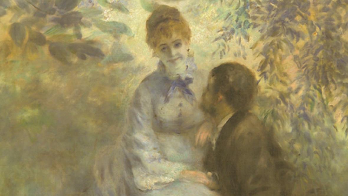 Pierre-Auguste Renoir / Milenci (detail)