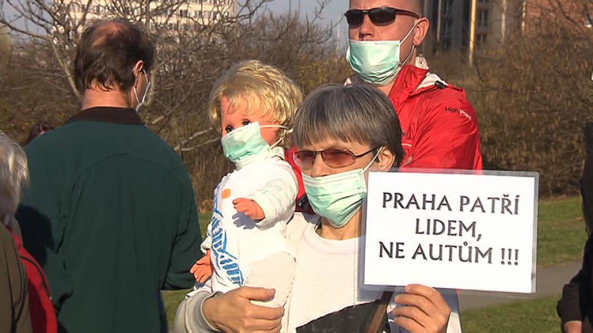 Protesty na Spořilově