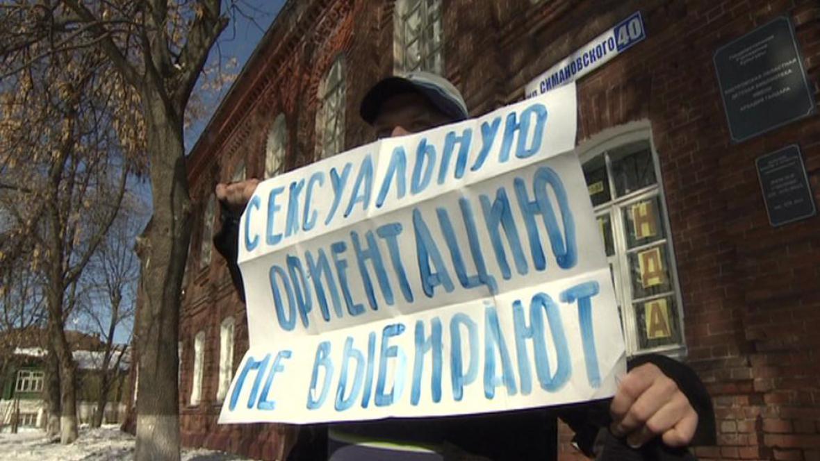Gay aktivista v Rusku