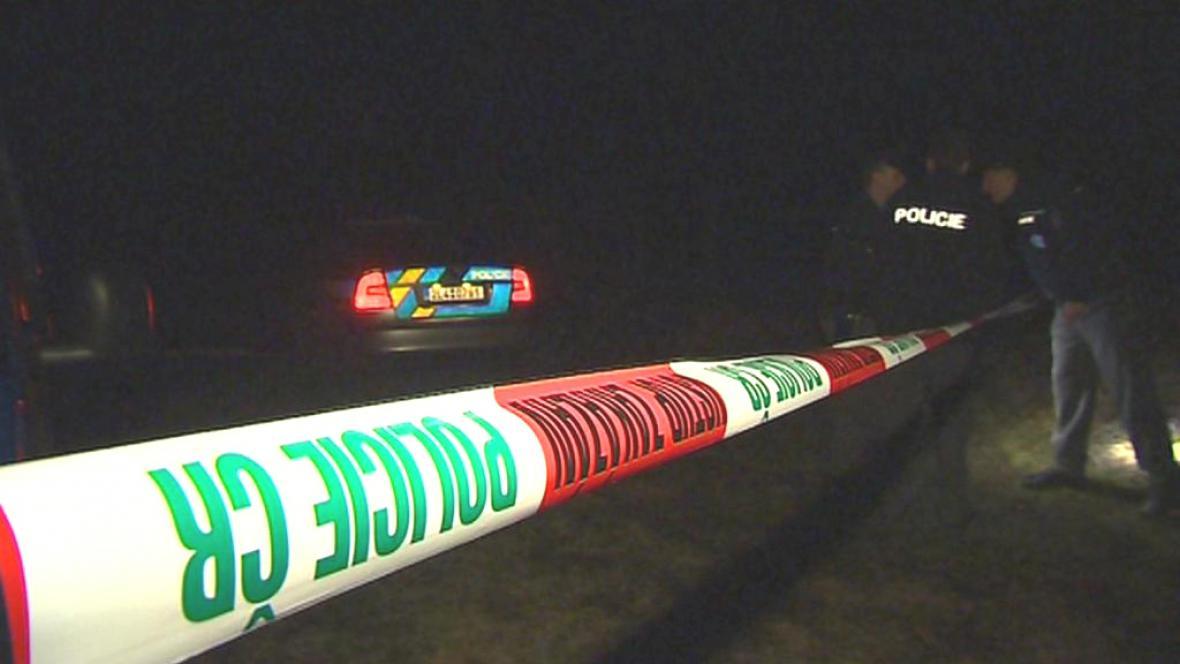 Policie na místě úmrtí poblíž Železného Brodu