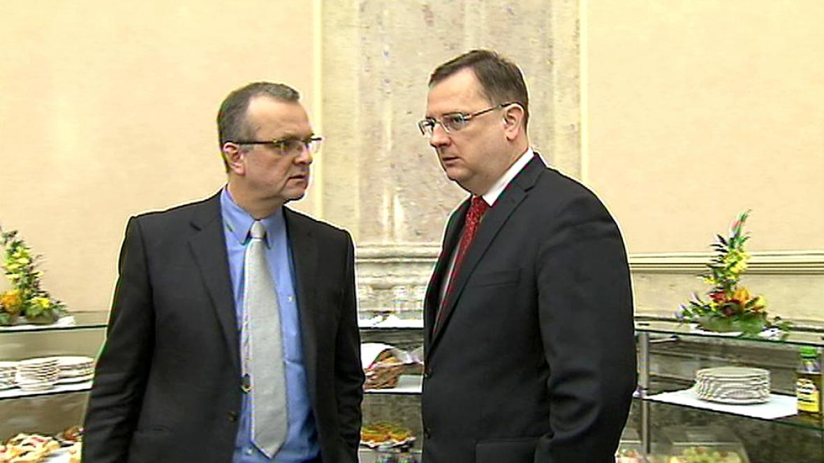 Miroslav Kalousek a Petr Nečas