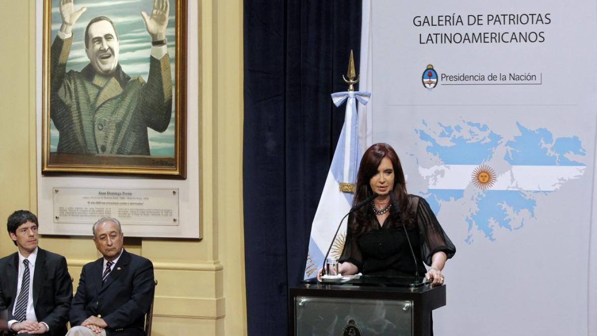 Cristina Fernándezová o Falklandech