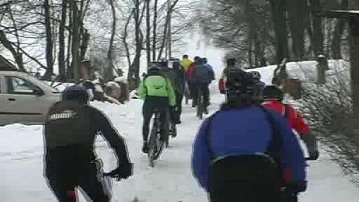 Závod horských kol Ledový kafe