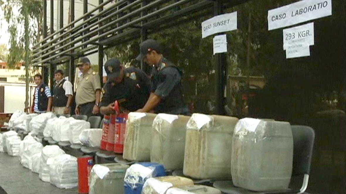 V Peru zabavili kokain