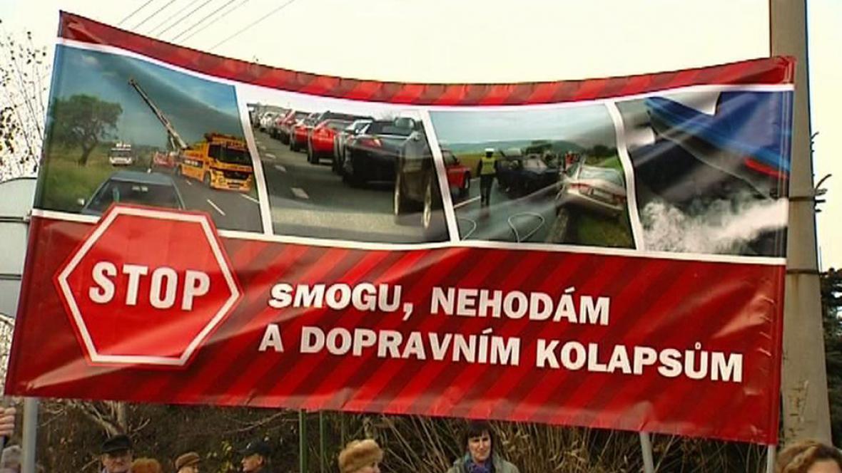 Protest na Třinecku