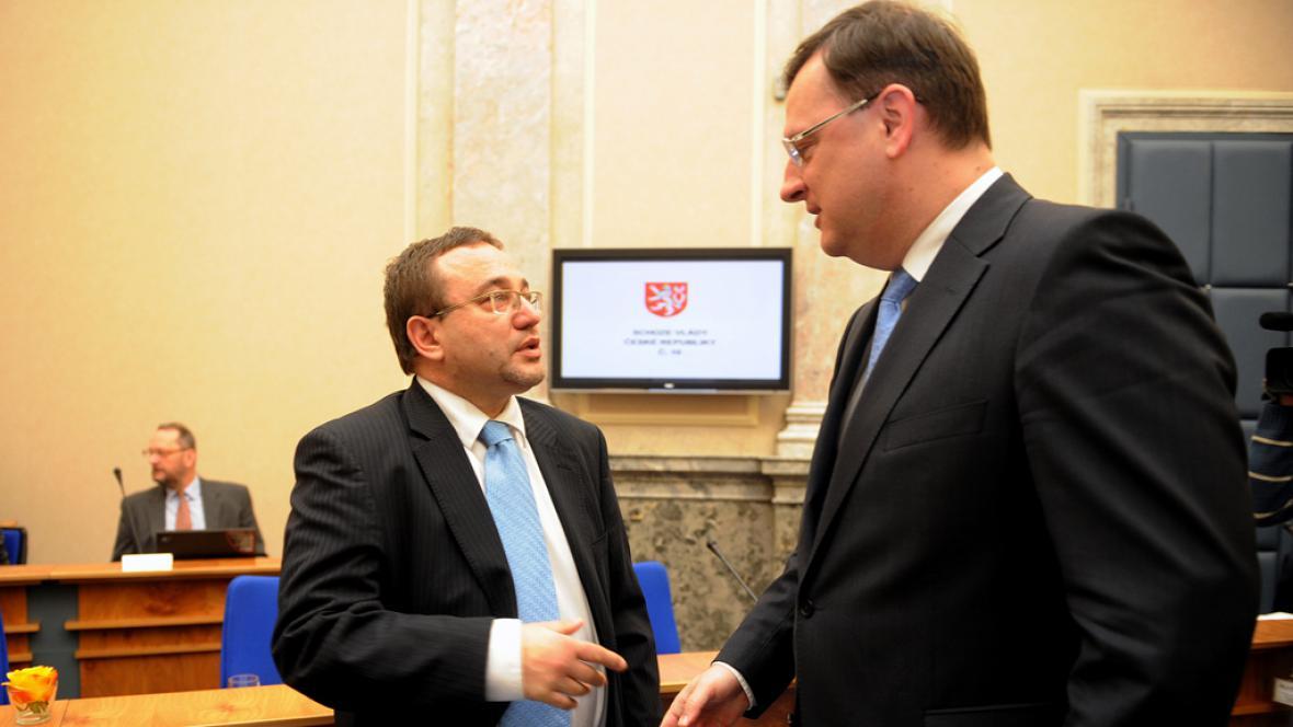 Josef Dobeš a Petr Nečas