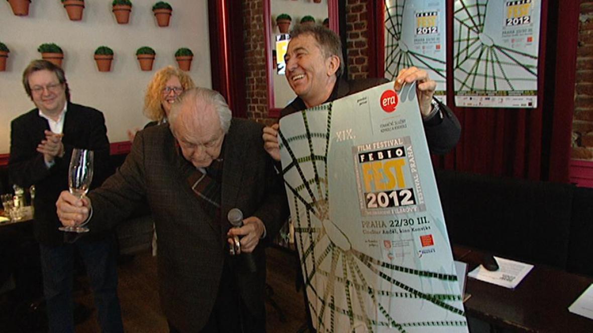 Jiří Krejčík a Fero Fenič představují plakát Febiofestu 2012