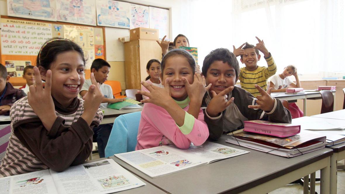 Romské děti - ilustrační foto