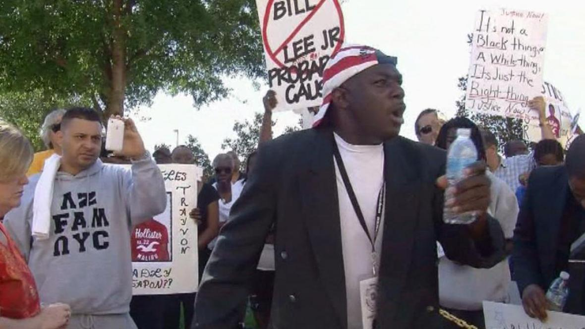 Demonstrace proti smrti Trayvona Martina