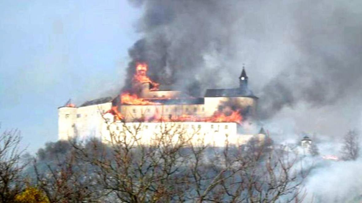 Krásna Horka hoří