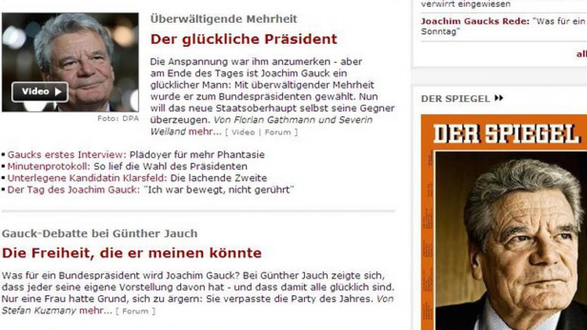 Spiegel o Joachimu Gauckovi