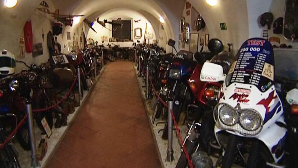 Motocyklové muzeum v Českých Budějovicích