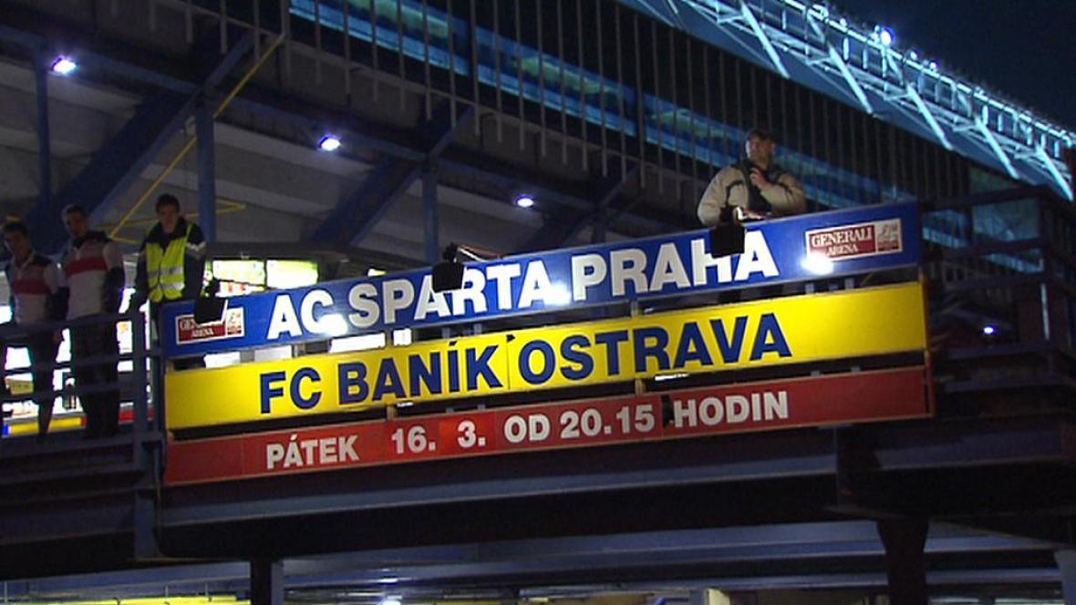 Zápas mezi Spartou a Baníkem na pražské Letné