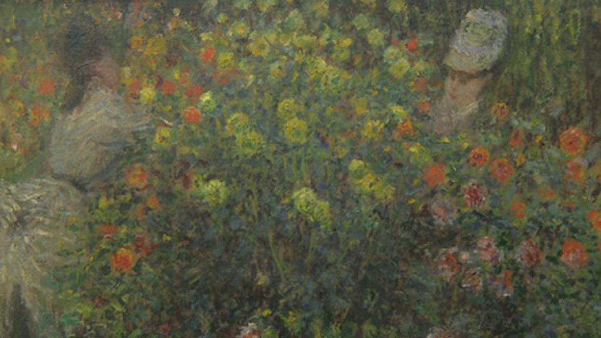 Claude Monet / Dámy v květinách (detail)