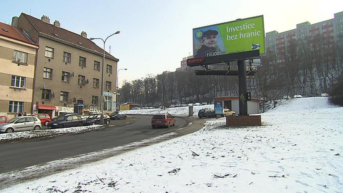 Billboard v Michelské ulici