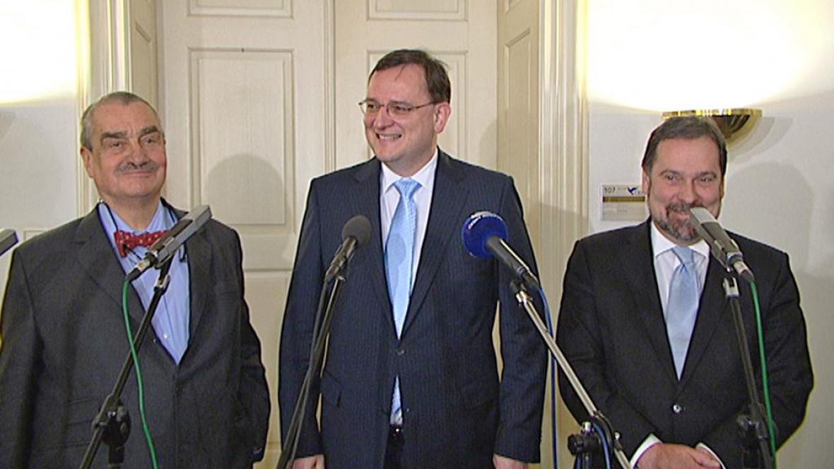 Šéfové koaličních stran