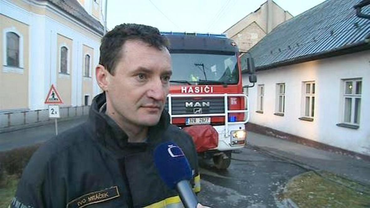 Mluvčí hasičů Ivo Mitáček