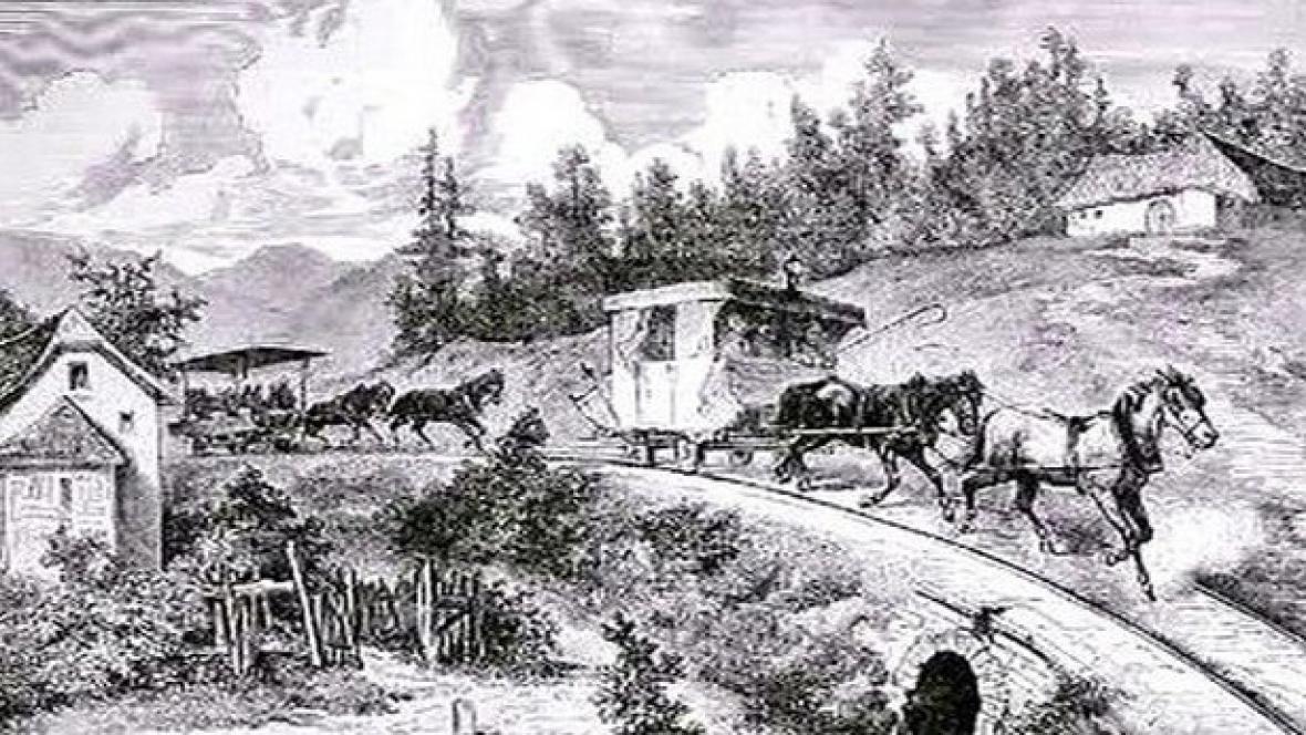 Obrázek historické koněspřežky