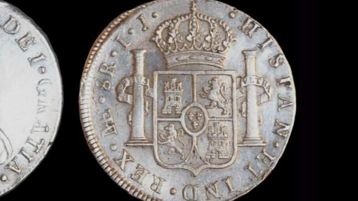 Zlaté mince z potopené lodi