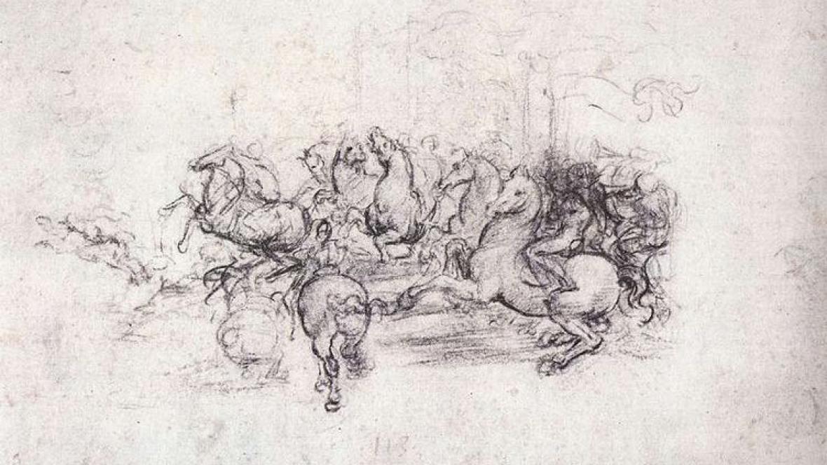 Bitva u Anghiari / Leonardo da Vinci (studie)
