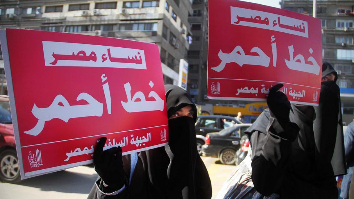 Protest Egypťanů proti testům panenství