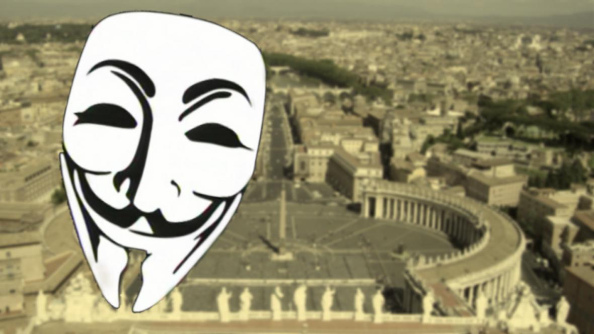Anonymous napadli webové stránky Vatikánu