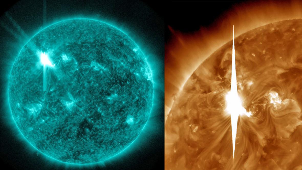 Sluneční erupce vrhla do vesmíru silné elektromagnetické záření