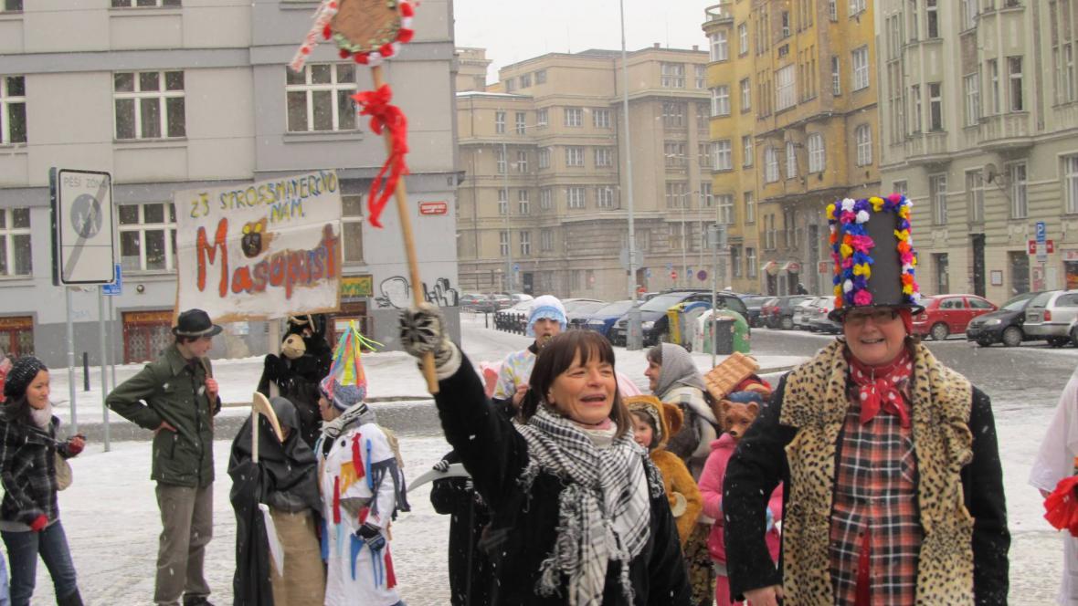 Masopust ZŠ Strossmayerovo náměstí v Praze 7
