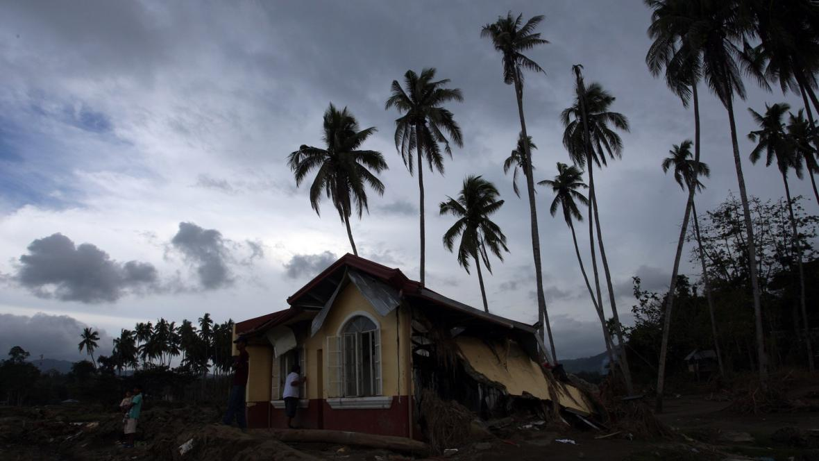 Pozůstatky tropické bouře na Filipínách
