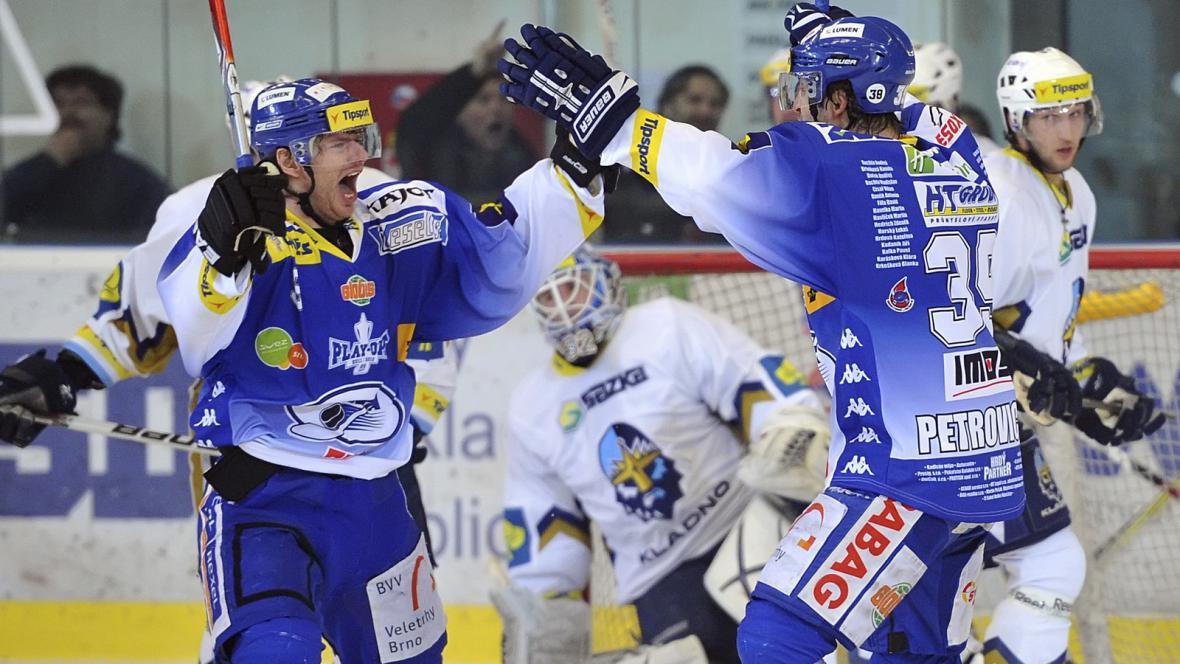 Radost hokejistů Brna