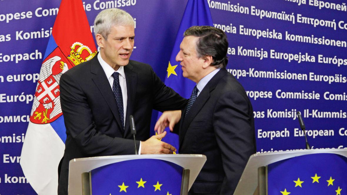 Boris Tadić a José Manuel Barroso
