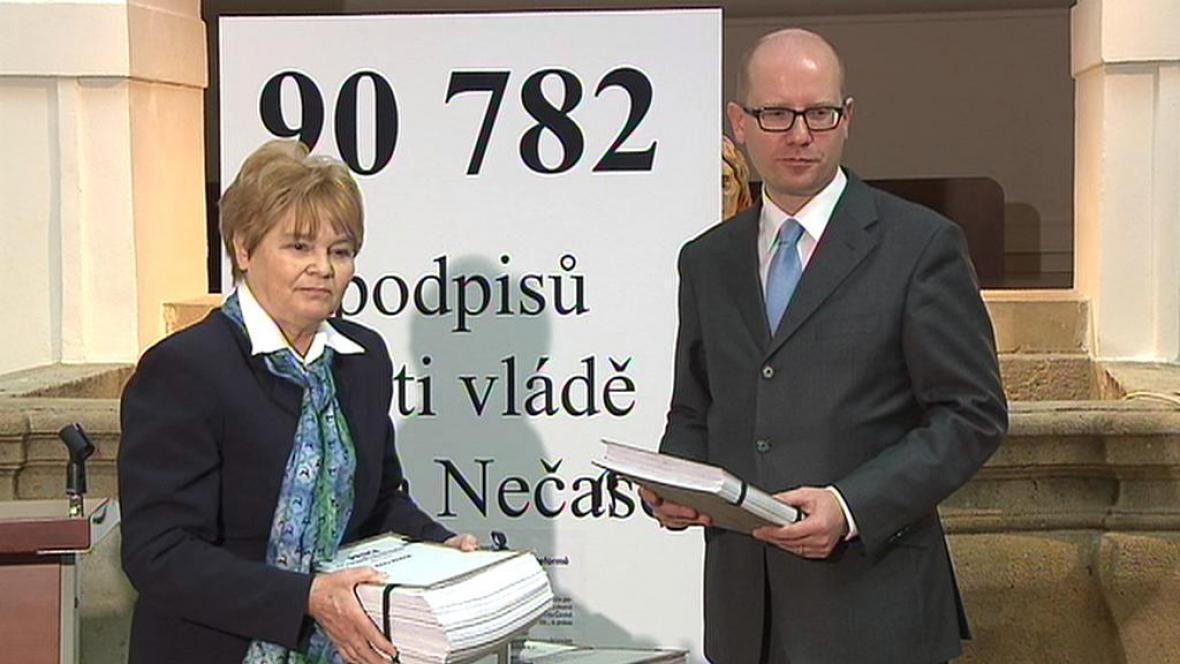 Hana Orgoníková a Bohuslav Sobotka