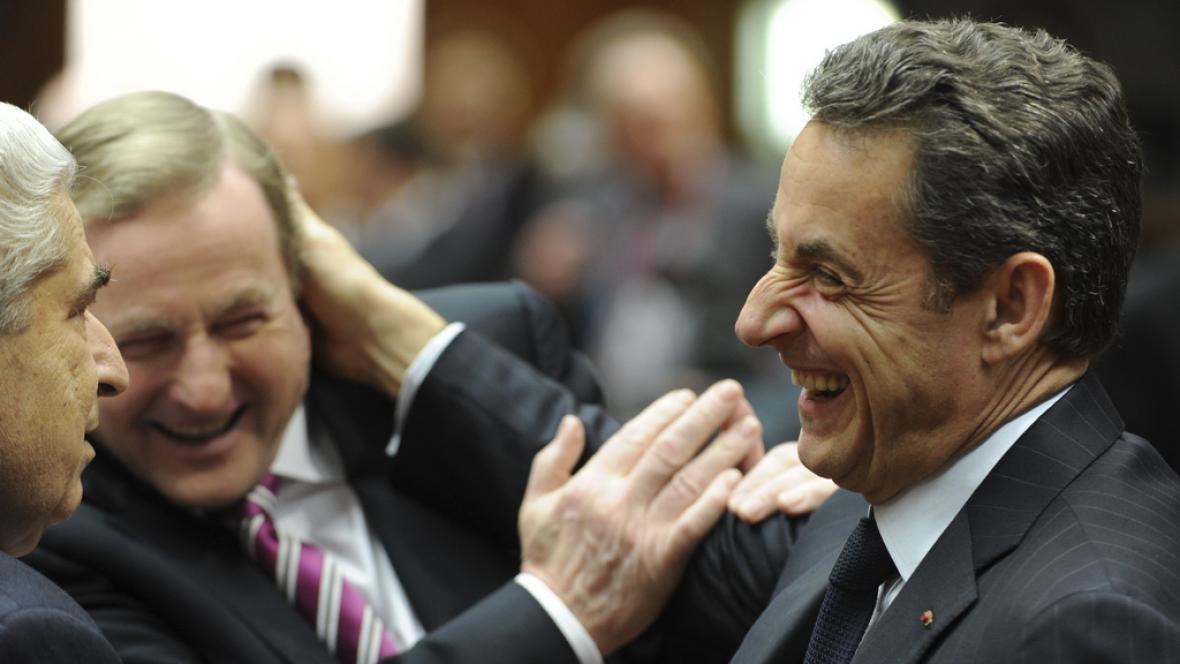 Demetris Christofias, Enda Kenny a Nicolas Sarkozy