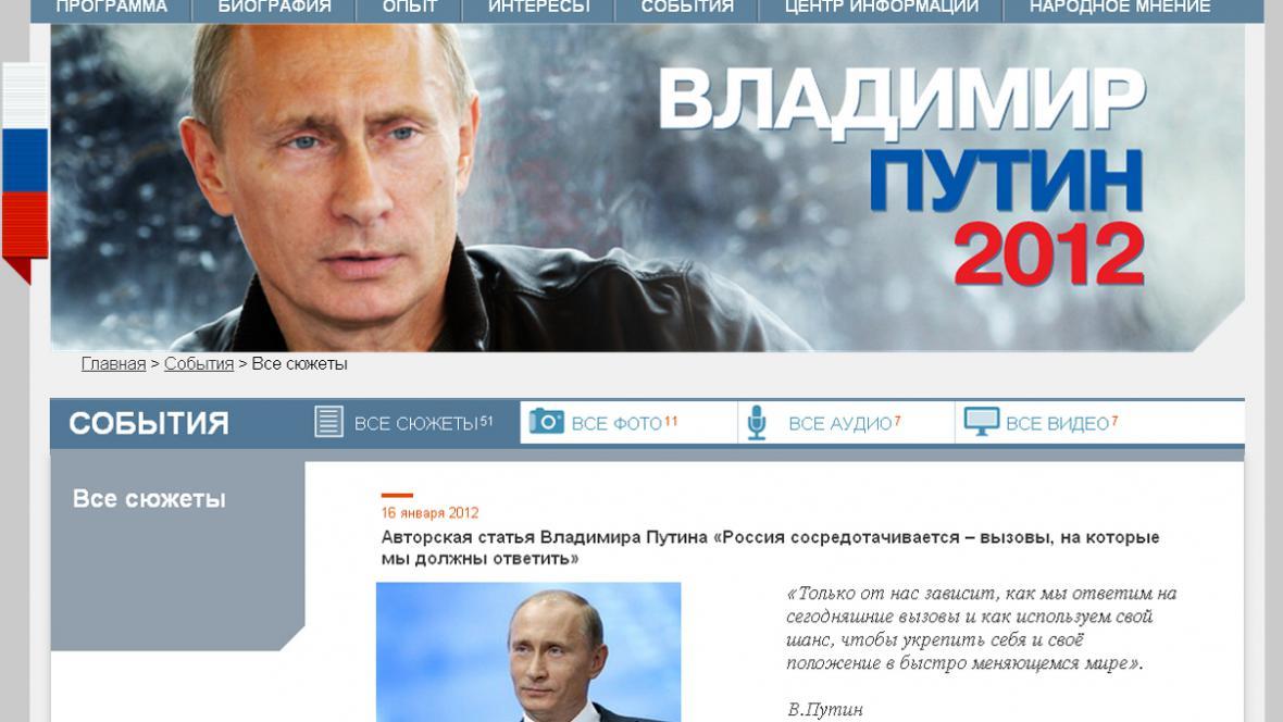 Putinův článek o výzvách, jimž je třeba čelit