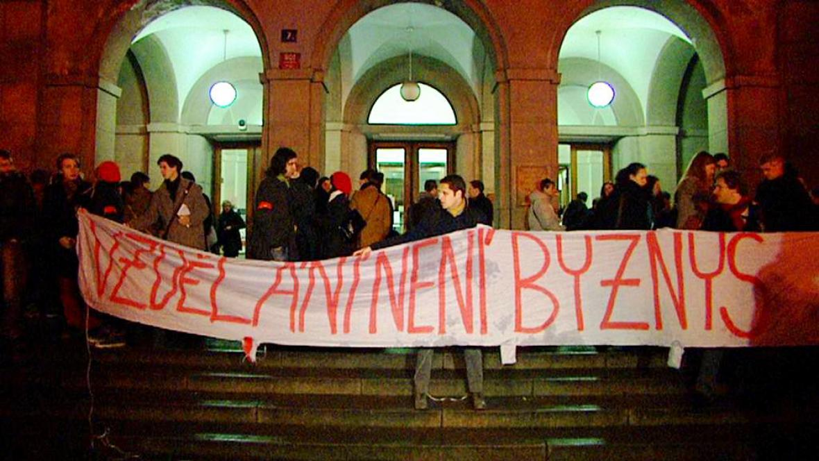 Protest proti reformě VŠ