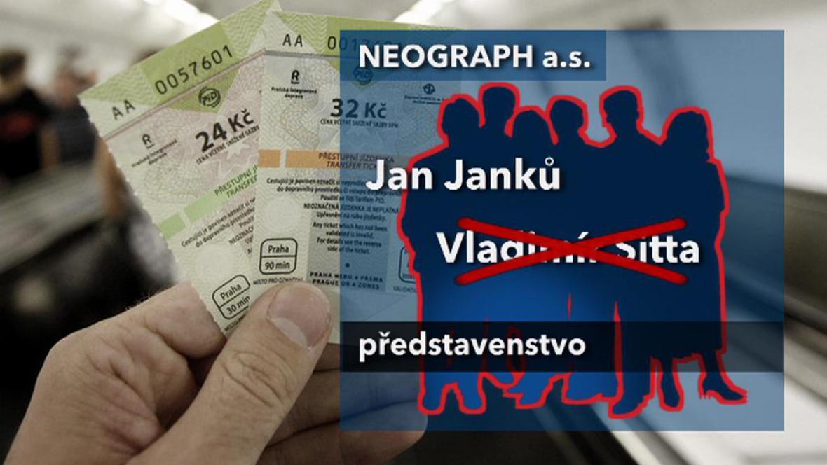 Kauza jízdenek DPP zahýbala vedením Neographu