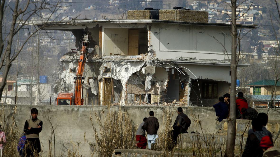 Demolice Usámova sídla v Abbottábádu