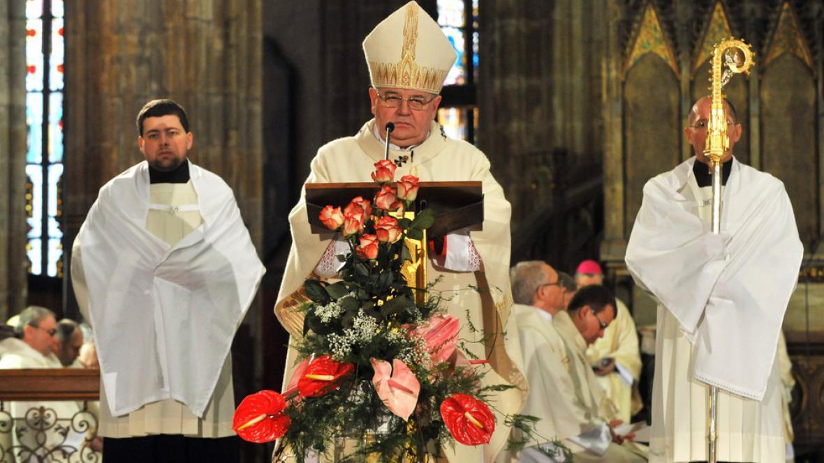 Dominik Duka ve Svatovítské katedrále