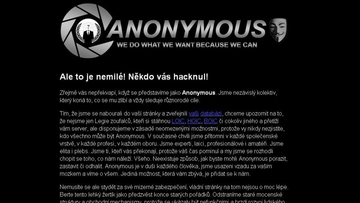 Útok hackerů