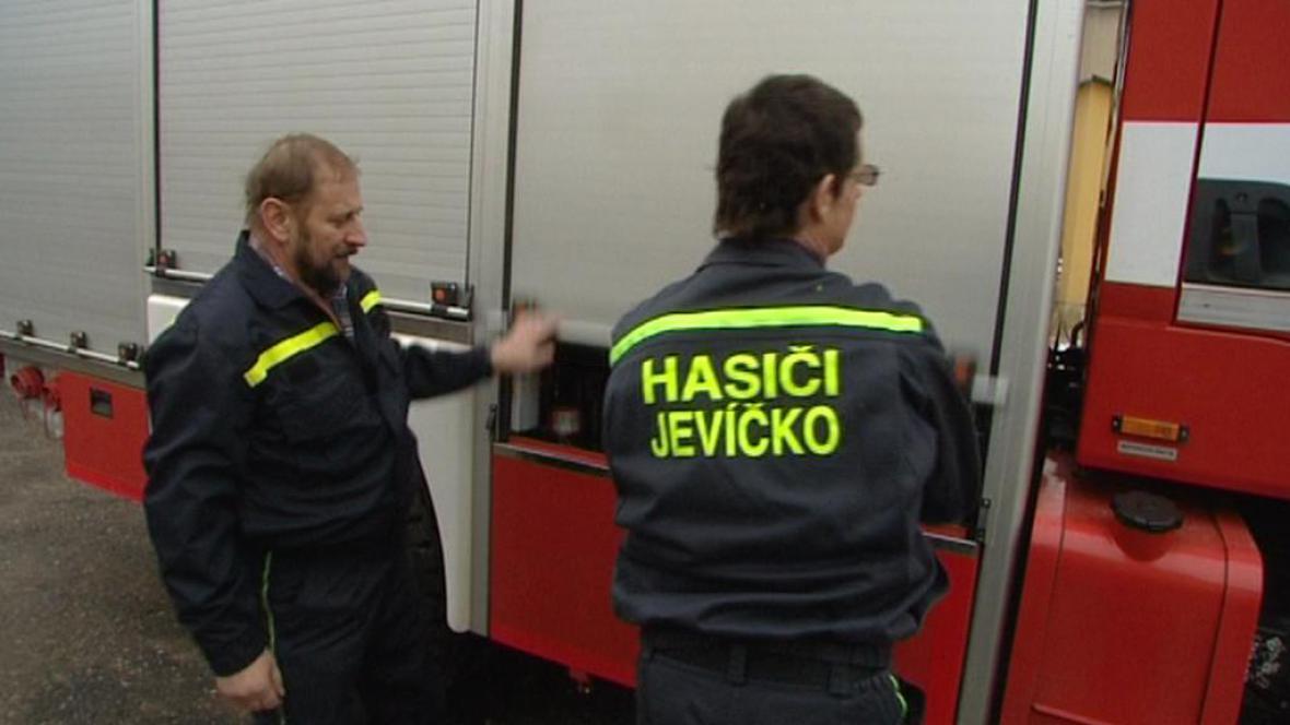 Dobrovolní hasiči z Jevíčka