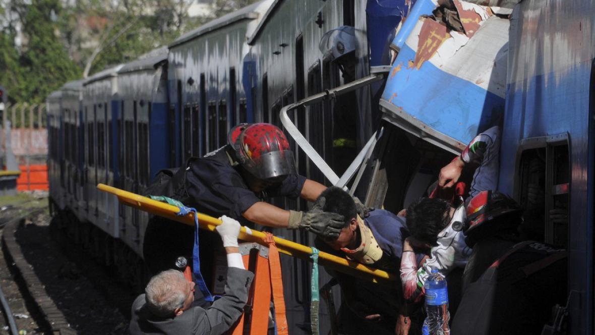 Nehoda na železnici v Argentině