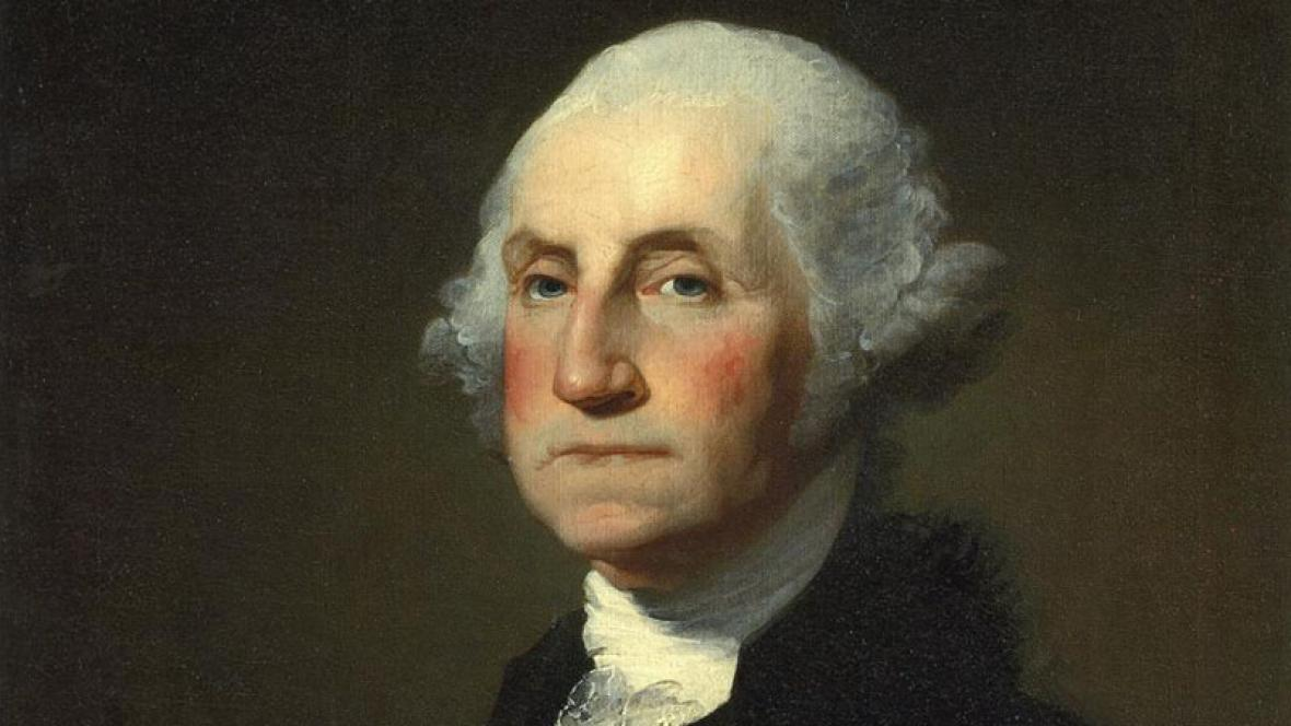 George Washington na portrétu Gilberta Stuarta