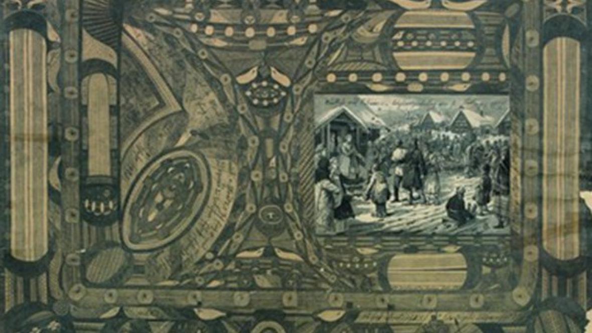 Adolf Wölfli / Návraty ze Sibiře (výřez)
