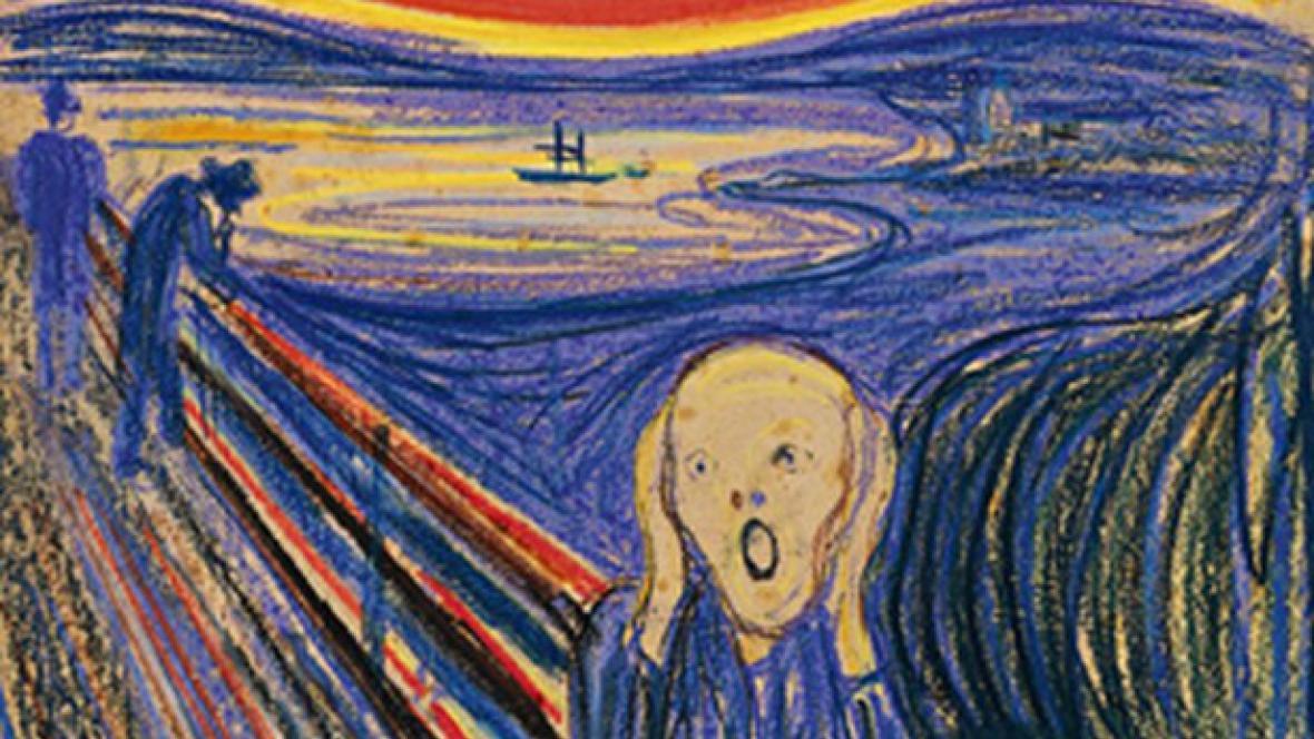 Edvard Munch / Výkřik (1895) - detail