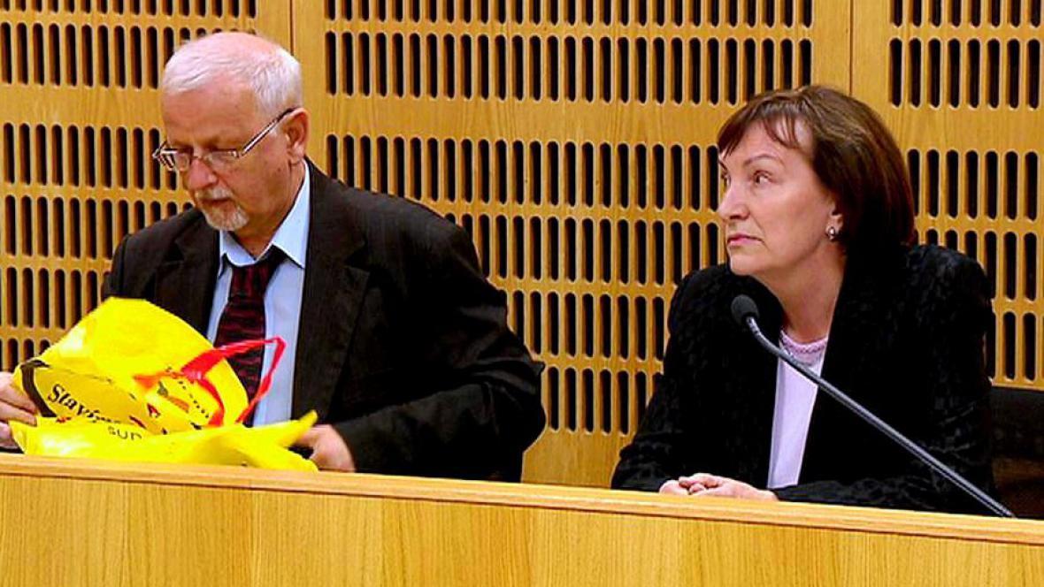 Anna Benešová u soudu